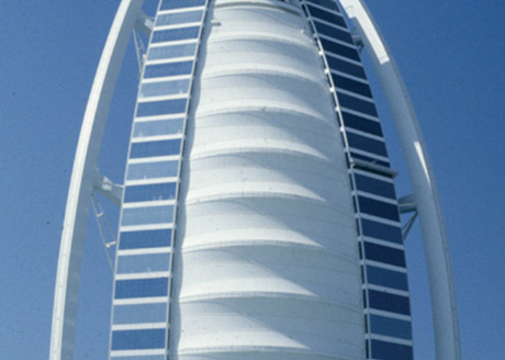 Burj al Arab, Dubai, United Arab Emirates. Lighting Consultant: Maurice Brill Lighting Design Architects and Consultants: WS Atkins